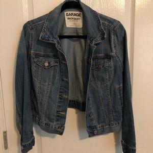 Garage cropped denim jacket
